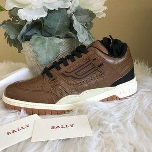 Bally champion kuba retro embossed leather sneaker